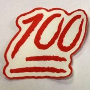 custom 100 one hundred sublimation patch