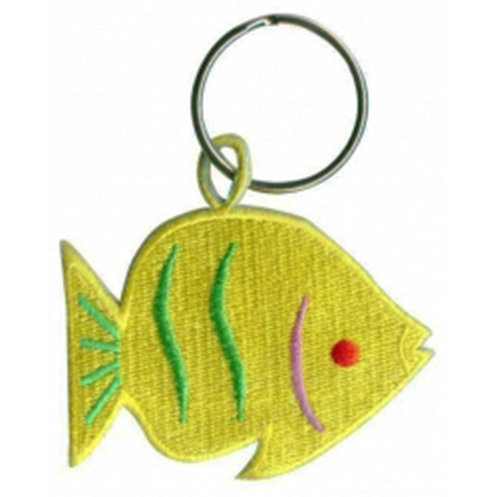 custom made fish logo embroidery keychain Featured Image