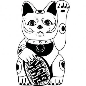fortune cat vector conversion service
