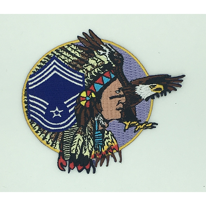 custom made Indians logo embroidery patch Featured Image