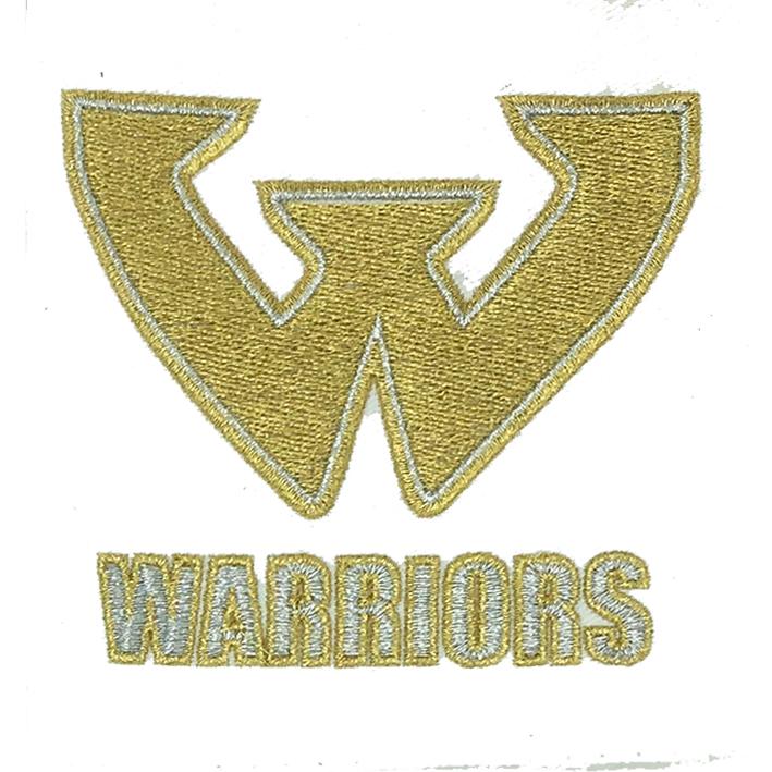 warriors  logo embroidery digitizing Featured Image