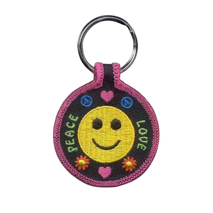 Kiss Before Flight Embroidered Keychain Kiss Me Before Flight Keychains Mermaid Key Ring peace love Featured Image