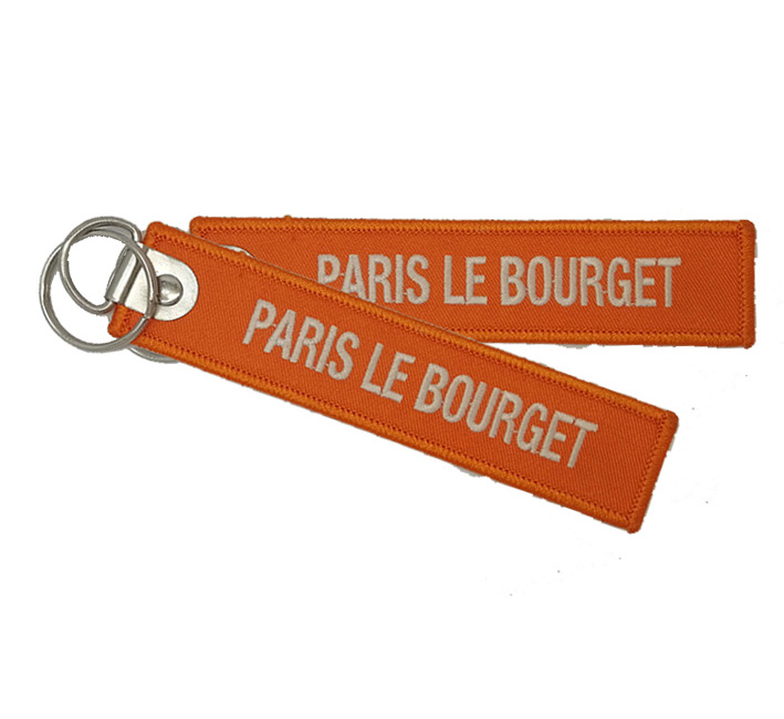 Promotional Embroidery Key Ring Promotional Woven Keychain Promotional Woven Keychain Supplier paris le bourget Featured Image