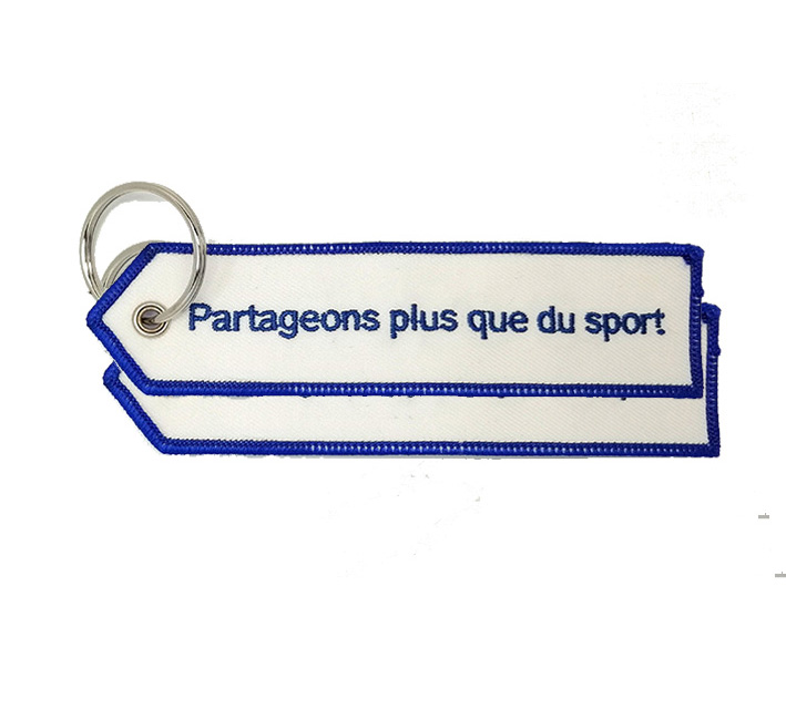 Wholesale hot sale partageons plus embroidery keychain Featured Image
