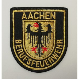 custom made aachen logo embroidery patch