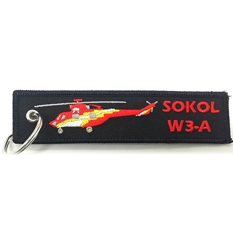 custom made sokol w3-a embroidery keychain Featured Image