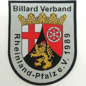 damask patch woven labels billard Verband