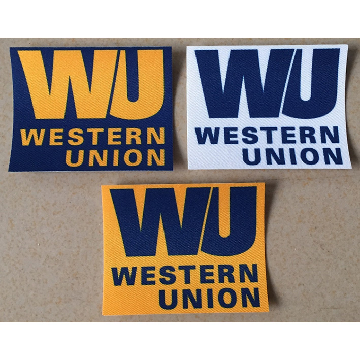 Factory Wholesale Personalized Embroidery Patch Wu Western Union