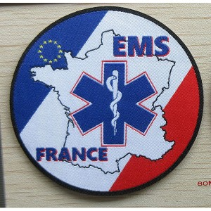 custom made ems france woven patch