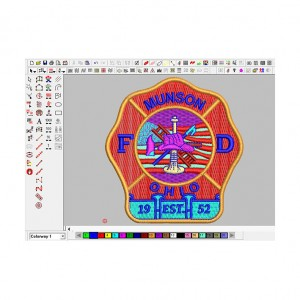 funny aussie emblem  patch embroidery digitizing