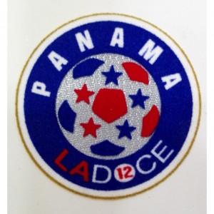 Custom made panama embroidery flock patch