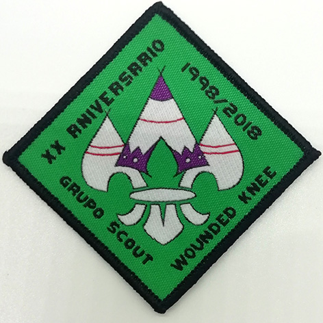 woven badges sew on merrow borders grupo scout Featured Image