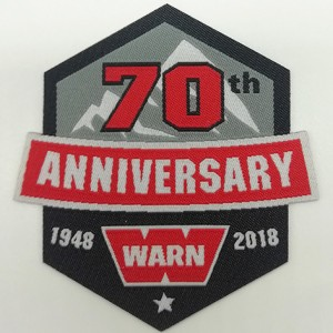 woven patch with brooch anniversary