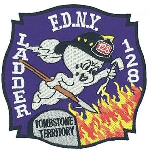 fdny ladder blank  fleece embroidery patch