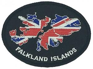 falkland islands flocking embroidery  badges for digital camo jacket