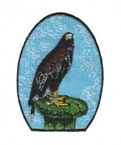 handcrafted eagle logo embroidery digitizing