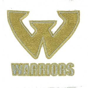 warriors  logo embroidery digitizing