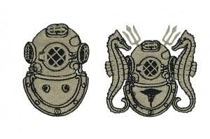 diver equipment Illustration  embroidery digitizing