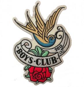 Special customized silk scarf digital camo bomber jacket boys club logo embroidery patch