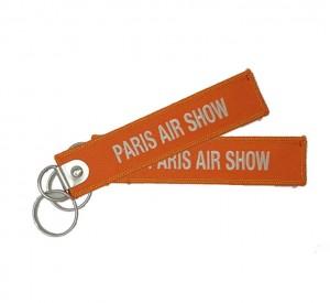 wholesale paris air show textile embroidery keychain