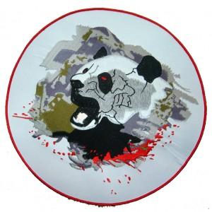 custom made panda Logo souvenir  embroidered patch