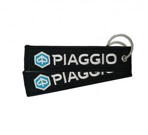 Custom piaggio logo woven keychain