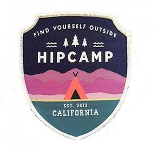 custom made hipcsmp logo promotional  heat seal woven patch
