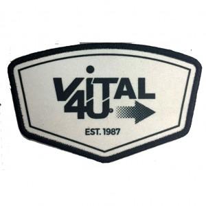 custom made vital 4u woven patch