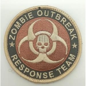 zombie utbreak black cloth embroidery patch