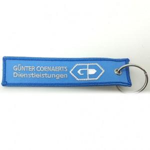 custom made gunter coenaerts brand name designer embroidery keychains