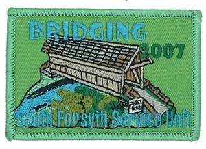 custom made bridging logo embroidery patch