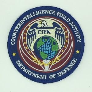 custom made cifa logo embroidery patch