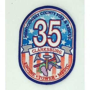 Custom made clarksburg logo embroidery patch
