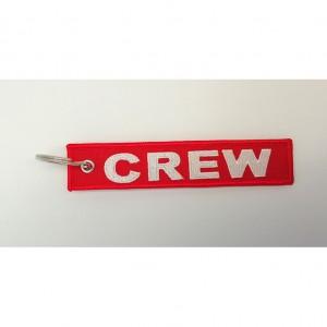 custom made crew embroidery keychain
