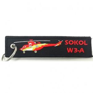 custom made sokol w3-a embroidery keychain