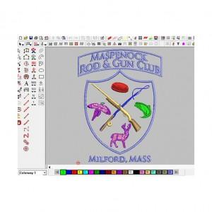 iron-on animal bee  maspenock  patch embroidery digitizing