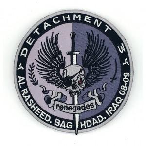 custom made detachment logo embroidery patch
