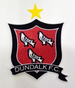 Custom dundalk logo embroidery flock patch