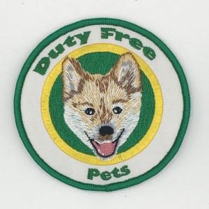 custom made duty free logo embroidery patch