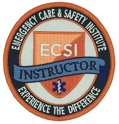 custom made  ecsi instructir logo embroidery patch Featured Image