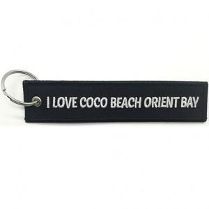I love coco beach oriental bay logo embroidered keychain