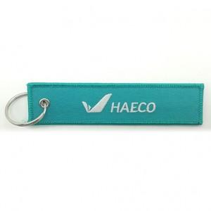 custom made haeco  embroidery  keychain