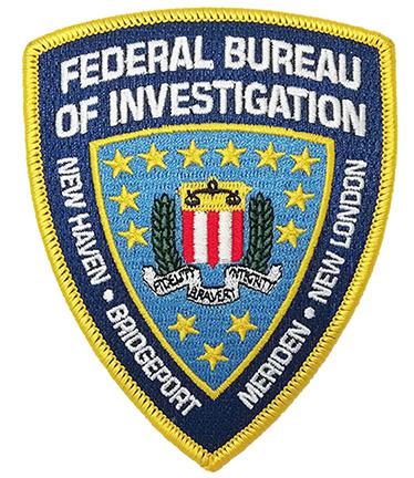 Custom mad  federal bureau logo embroidery patch Featured Image