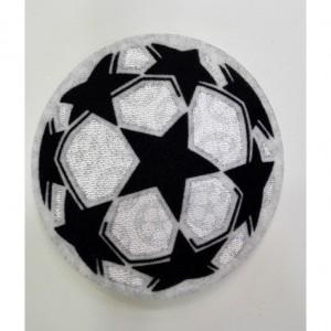Custom football embroidery flock patch