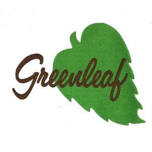 custom greenleat logo embroidery digitizing