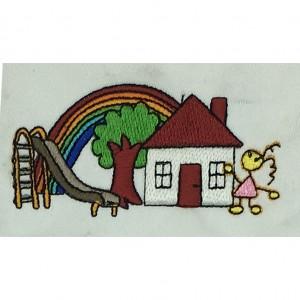 custom house logo embroidery digitizing