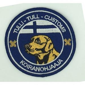 custom made koiranohjaaia logo embroidery patch