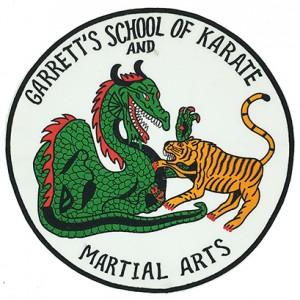 custom made martial arts logo embroidery patch