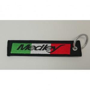 custom made medley logo embroidery keychain