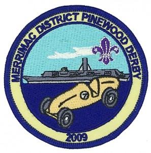 custom made  merrimac logo embroidery patch